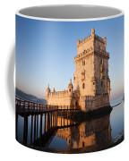Morning At Belem Tower In Lisbon Coffee Mug