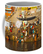 Morning Bathing At Kedar Ghat Coffee Mug
