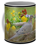 Morning Dove With Pansies Coffee Mug