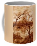 Morning Fishing Original Coffee Painting Coffee Mug
