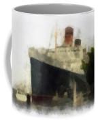 Morning Fog Queen Mary Ocean Liner 01 Photo Art 01 Coffee Mug