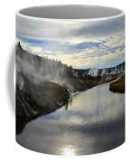 Morning In Upper Geyser Basin In Yellowstone National Park Coffee Mug