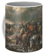 Morning Of The Battle Of Agincourt, 25th October 1415, 1884 Oil On Canvas Coffee Mug