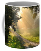 Morning On Country Road Coffee Mug