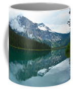 Morning Reflection In Emerald Lake In Yoho National Park-british Columbia-canada Coffee Mug