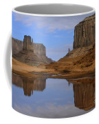 Morning Reflections In Monument Valley Coffee Mug