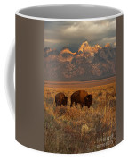 Morning Travels In Grand Teton Coffee Mug by Sandra Bronstein