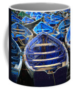 Moroccan Blue Fishing Boats Coffee Mug