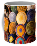 Moroccan Pottery On Display For Sale Coffee Mug by Ralph A  Ledergerber-Photography