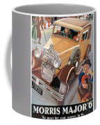 Morris Major 6 - Vintage Car Poster Coffee Mug