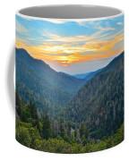 Mortons Overlook Smoky Mountain Sunset Coffee Mug