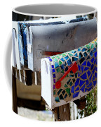 Mosaic Mailbox On The Turquoise Trail In New Mexico Coffee Mug