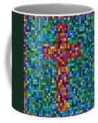 Mosaic Tile Cross Coffee Mug
