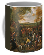 Moses Striking The Rock Coffee Mug