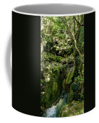 Moss And Stones By The Turquoise Forest Pond On A Summer Day No4 Coffee Mug