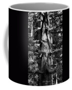 Moss On The Evergreens II In Black And White Coffee Mug