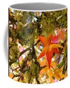 Mossy Lichen Tree Leaves Art Prints Autumn Coffee Mug