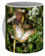 Moth On White Flower Coffee Mug