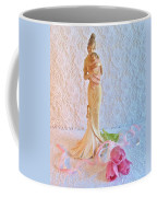 Mother And Child With Pink Tulips Coffee Mug