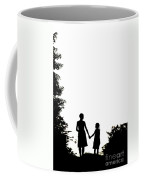 Mother And Daughter Holding Hands Coffee Mug