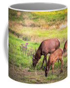 Mother Elk With Her Young Coffee Mug