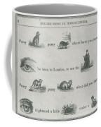 Mother Goose In Hieroglyphics, 1855 Coffee Mug