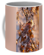 Mother Nature's Christmas Decorations - Golden Oak Leaves Jewels Coffee Mug