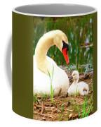 Mother Swan And Baby Coffee Mug