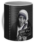 Mother Teresa Mug Shot Coffee Mug