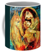 Mother With Child On Horse Coffee Mug