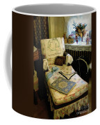 Mother's Chintz Chaise In The Corner Coffee Mug by RC deWinter