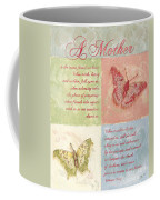 Mother's Day Butterfly Card Coffee Mug by Debbie DeWitt