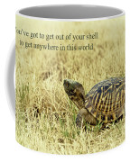 Motivating A Turtle Coffee Mug by Robert Frederick