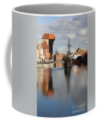 Motlawa River And Port Crane Coffee Mug