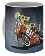 Motorbike Racing Grunge Color Coffee Mug