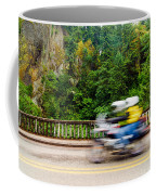 Motorcycle And Green Forest Coffee Mug