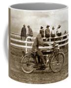 Motorcycle At Salinas California Rodeo Grounds Circa 1910 Coffee Mug