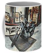 Motorcycle At Philadelphia Eddies Coffee Mug