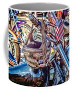 Motorcycle Helmet And Flag Coffee Mug