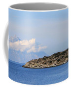 Mount Athos In Clouds View From Sithonia Greece Coffee Mug