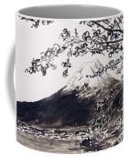 Mount Fuji Spring Blossoms Coffee Mug
