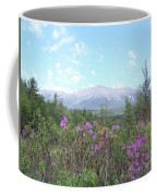 Mount Katahdin And Wild Flowers Coffee Mug