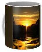 Mount Lassen Sunrise Gold Coffee Mug