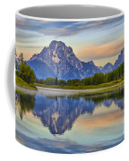 Mount Moran At Sunrise Coffee Mug