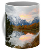 Mount Moran Reflection Sunset Coffee Mug