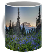 Mount Rainer Flower Fields Coffee Mug