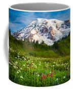 Mount Rainier Flower Meadow Coffee Mug