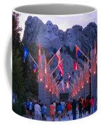 Mount Rushmore At Night Coffee Mug