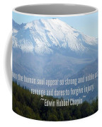 Mount Saint Helen's Text Coffee Mug