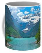 Mount Victoria Rises Above Lake Louise In Banff Np-alberta Coffee Mug